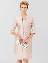 cheap -3/4 Length Sleeve Coats / Jackets Lace / Satin Wedding / Party / Evening Women's Wrap With Rhinestone / Lace