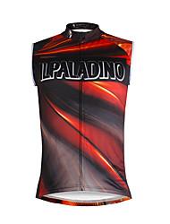 cheap -ILPALADINO Men's Sleeveless Cycling Jersey Jacinth +Gray Rainbow Bike Vest / Gilet Jersey Tank Top Mountain Bike MTB Road Bike Cycling Quick Dry Sports Clothing Apparel / Stretchy