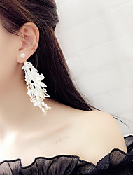 cheap -Women's Drop Earrings Long Ladies Tassel Gothic Korean Fashion Earrings Jewelry White / Black For Party Daily