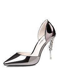 cheap -Women's Heels Glitter Crystal Sequined Jeweled Stiletto Heel Patent Leather Club Shoes Walking Shoes Spring / Summer Dark Grey / Pink / Gold / Wedding / Party & Evening / Dress / 3-4