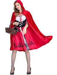 cheap -Little Red Riding Hood Cosplay Costume Party Costume Women's Christmas Halloween Carnival Festival / Holiday Polyester Red Women's Carnival Costumes Color Block
