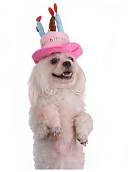 cheap -Cat Dog Hats, Caps & Bandanas Dog Clothes Blue Pink Costume Plush Fabric Letter & Number New Keep Warm Headwarmers M