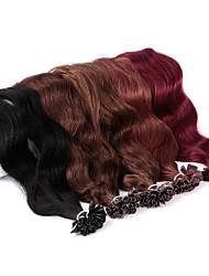 cheap -Neitsi Fusion / U Tip Human Hair Extensions Wavy Human Hair Human Hair Extensions Women's Ash Brown