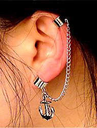 cheap -Women's Clip on Earring Ear Cuff Helix Earrings Anchor Statement Ladies Vintage Fashion Earrings Jewelry Silver For Club Bar