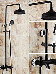 cheap -Shower Faucet - Antique Oil-rubbed Bronze Centerset Ceramic Valve Bath Shower Mixer Taps