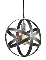 cheap -Vintage Industrial Metal Spherical Pendant Lights Dining Room Kitchen Cafe Hanging Lighting Fixture Painted Finish