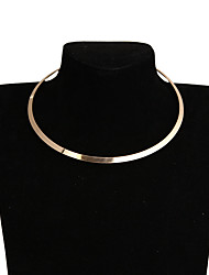 cheap -Women's Choker Necklace Ladies Simple European Fashion Alloy Gold Silver Necklace Jewelry For Party Daily