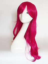 cheap -Synthetic Wig Curly Natural Wave Natural Wave Asymmetrical With Bangs Wig Medium Length Long Black / Rose Red Brown Silver Pink Light Blonde Synthetic Hair Women's Natural Hairline Red