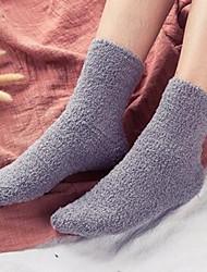 Недорогие -Муж. Ультратеплые Носки - Однотонный Темно-серый Светло-серый Один размер