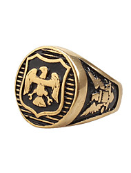 cheap -Men's Band Ring Signet Ring Gold Silver Titanium Steel Statement Vintage Rock Daily Casual Jewelry High School Rings Class
