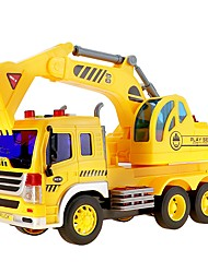 cheap -1:16 Other Material Rubber Construction Truck Set Wheel Excavator Toy Truck Construction Vehicle Toy Car LED Lighting Toy Playsets Singing Architecture Vehicles Fashion Car Boys' Girls' Kid's Car Toys
