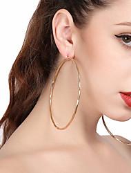 cheap -Women's Drop Earrings Hoop Earrings Twisted Machete Ladies Oversized Huge Earrings Jewelry Gold / Silver For Party Street