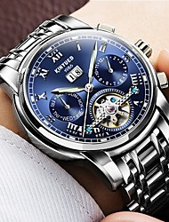 cheap -Men's Mechanical Watch Quartz Watches Aviation Watch Automatic self-winding Black / Silver 30 m Water Resistant / Waterproof Calendar / date / day Chronograph Luxury Classic Casual Fashion - Blue