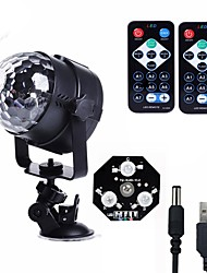 cheap -U'King Disco Lights Party Light LED Stage Light / Spot Light Sound-Activated / Remote Control / Music-Activated 6 W For Home / Outdoor / Party Portable RGB for Dance Party Wedding DJ Disco Show