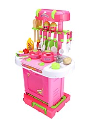 cheap -YIJIATOYS Grocery Shopping Housekeeping Toy Kitchen Set Food&Drink Classic Theme Holiday Furnishing Articles Boys' Girls' Toy Gift 1000 pcs