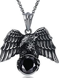 Недорогие -Муж. Ожерелья с подвесками Массивный Готика Первоначальные ювелирные изделия Крупногабаритные Нержавеющая сталь Титановая сталь Вольфрамовая сталь Серебряный Ожерелье Бижутерия 1 Назначение
