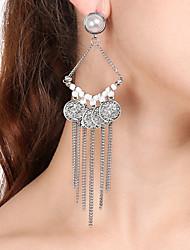 cheap -Women's Drop Earrings Dangle Earrings Tassel Oversized Earrings Jewelry Silver For Party Ceremony