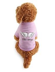 abordables -Chien Tee-shirt Vêtements pour Chien Respirable Costume Coton Lettre et chiffre XS S M L
