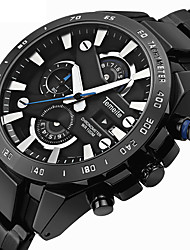 cheap -Men's Sport Watch Military Watch Analog - Digital Quartz Casual Alarm Calendar / date / day Chronograph / Two Years / Stainless Steel / Stainless Steel