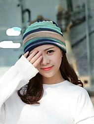 cheap -Women's Cotton Floppy Hat-Striped Braided Spring, Fall, Winter, Summer Blue Rainbow