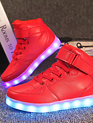 cheap -Boys USB Charging  LED / Comfort / LED Shoes Customized Materials / Leatherette Sneakers Little Kids(4-7ys) / Big Kids(7years +) Lace-up / Magic Tape / LED Black / White / Dusty Rose Fall / Winter / T