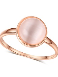 cheap -Women's Band Ring Bezel Set Ring Synthetic Opal Moonstone One-piece Suit Rose Gold Rose Gold Opal Circle Vintage Elegant Wedding Evening Party Jewelry