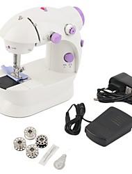Недорогие -мини-электрическая ручная швейная машина с двойной регулировкой скорости с легкой ножной швейной машиной с двойной резьбой