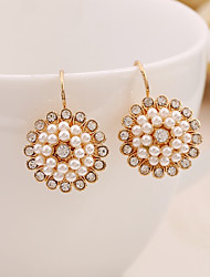 cheap -Women's Drop Earrings Flower Elegant Sweet Pearl Earrings Jewelry Gold For Daily Evening Party