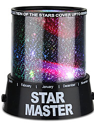 cheap -Starry Night Projector Staycation Starry Night Light Star Light LED Lighting Colorful Twilight Plastic ABS Boys' Toy Gift