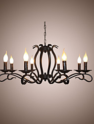 cheap -8-Light 79 cm Candle Style Chandelier Metal Modern Contemporary 110-120V / 220-240V