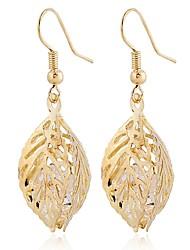 cheap -Women's Drop Earrings Leaf Classic Elegant Sweet Gemstone Earrings Jewelry Gold / Silver For Ceremony Evening Party