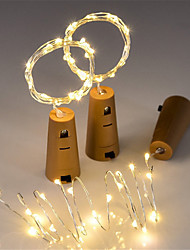 cheap -0.75m Flexible LED Light Strips String Lights 15 LEDs SMD 0603 3pcs Warm White Christmas New Year's Waterproof Decorative Wedding Batteries Powered IP65