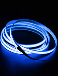 cheap -2m 0 LEDs 2.3mm EL White Red Blue Waterproof Self-adhesive Neon Electroluminescent Wire 1pc