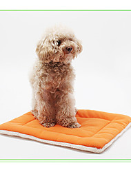 cheap -Dog Mattress Pad Bed Bed Blankets Pet Mats & Pads Cotton Solid Colored Blue Pink Coffee