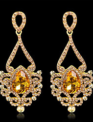 cheap -Women's Cubic Zirconia Drop Earrings Drop Vintage Elegant Earrings Jewelry Gold / Silver For Wedding Evening Party 1pc