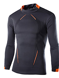cheap -Men's Compression Shirt Cotton Fitness Gym Workout Workout Tee / T-shirt Compression Clothing Top Long Sleeve Activewear Breathable Ultra Light (UL) Quick Dry Wearproof Sweat-Wicking Stretchy