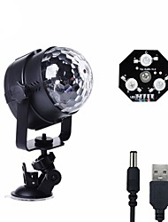 cheap -U'King Disco Lights Party Light LED Stage Light / Spot Light Sound-Activated / Music-Activated 6 W For Home / Outdoor / Party Portable RGB White for Dance Party Wedding DJ Disco Show Lighting