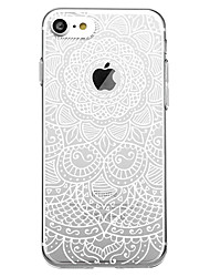 cheap -Case For Apple iPhone X / iPhone 8 Plus / iPhone 8 Pattern Back Cover Mandala / Flower Soft TPU