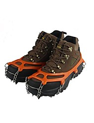 cheap -Traction Cleats Crampons Outdoor Non-Slip Metal Alloy Rubber Metal Climbing Outdoor Exercise Black Orange