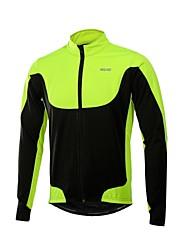 cheap -Arsuxeo Men's Cycling Jacket Bike Winter Fleece Jacket Windproof Sports Polyester Fleece Winter Red / Green / Blue Road Bike Cycling Clothing Apparel Relaxed Fit Bike Wear / Stretchy