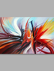 cheap -Oil Painting Hand Painted Abstract Modern Stretched Canvas With Stretched Frame