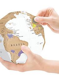 Недорогие -1 pcs Шары Карты Scratch Map Пазлы Головоломка для взрослых карта 3D Огромный Бумага Детские Взрослые Игрушки Подарок