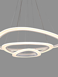 cheap -Modern Acrylic Triangle Simplicity LED Pendant Lights Three Rings Indoor Light For Office Living Room Bedroom Restaurant