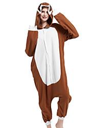 cheap -Adults' Kigurumi Pajamas Cartoon Sloth Animal Onesie Pajamas Polar Fleece Brown Cosplay For Men and Women Animal Sleepwear Cartoon Festival / Holiday Costumes