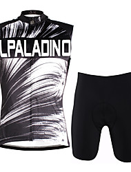 cheap -ILPALADINO Men's Sleeveless Cycling Jersey with Shorts Grey Bike Vest / Gilet Padded Shorts / Chamois Clothing Suit 3D Pad Quick Dry Sports Lycra Fashion Road Bike Cycling Clothing Apparel / Stretchy