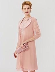 cheap -3/4 Length Sleeve Chiffon / Satin Wedding / Party / Evening Women's Wrap With Split Joint Coats / Jackets