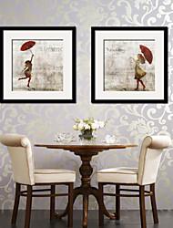 cheap -Framed Canvas Framed Set People Vintage Wall Art, PVC Material With Frame Home Decoration Frame Art Living Room Bedroom Kitchen Dining