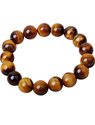cheap -Men's Onyx Bead Bracelet Cartoon Hip-Hop Agate Bracelet Jewelry Brown For Gift Date