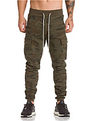 cheap -Men's Active / Basic / Military Plus Size Sports Weekend Slim Sweatpants / Cargo Pants - Camo / Camouflage Black Army Green Khaki XL XXL XXXL