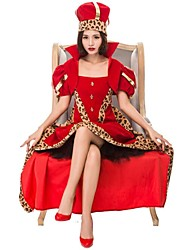 cheap -Queen of Hearts Cosplay Costume Women's Halloween Carnival Oktoberfest Beer Festival / Holiday Red Women's Carnival Costumes Color Block